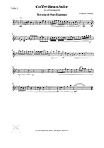 The Coffee Bean Suite for String Quartet - Movement One: Espresso (Violin I Part)